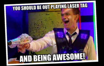 Laser Tag at the Library!