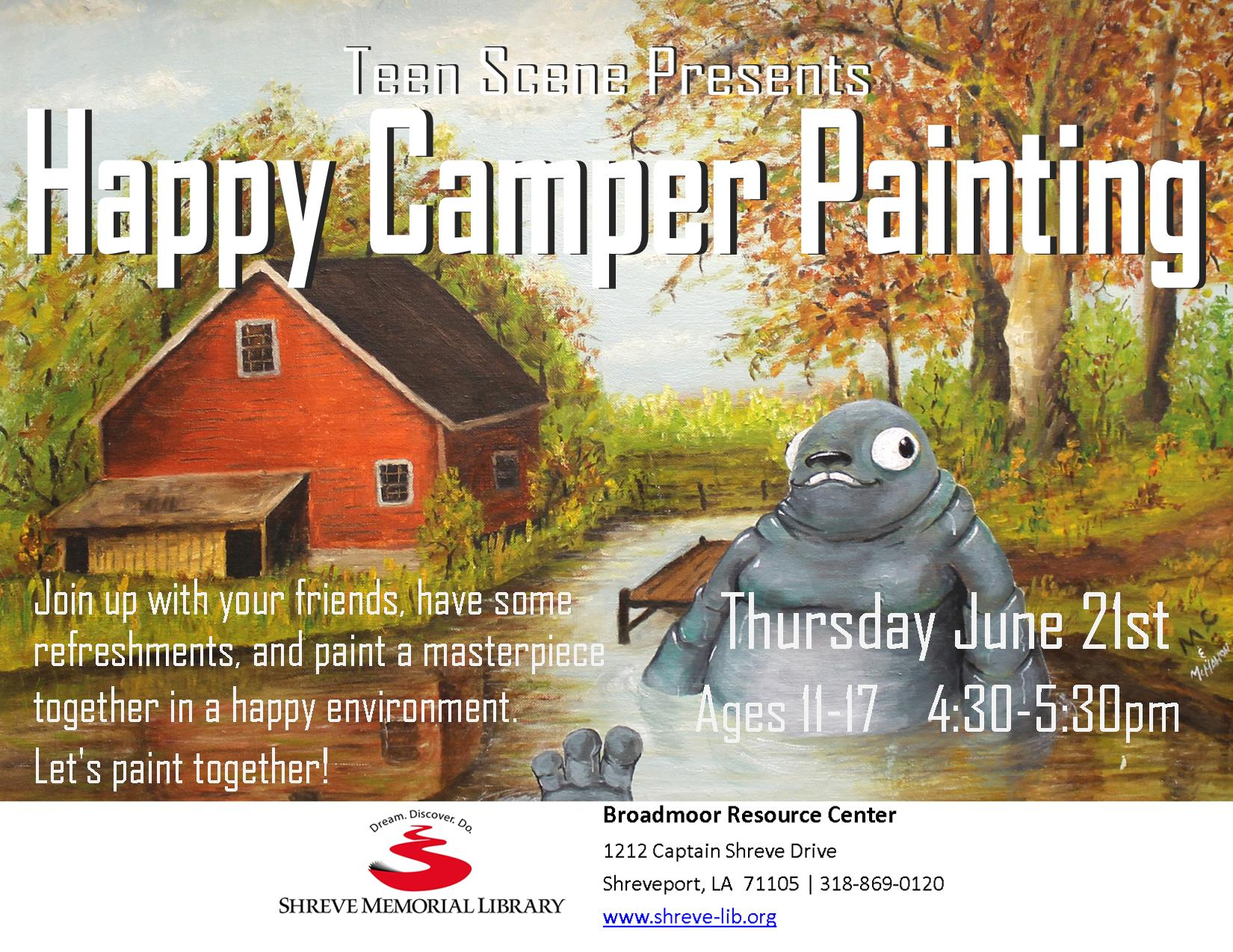 JUNE 21 - HAPPY CAMPER PAINTING