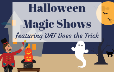 Halloween Magic Shows with Dat Does the Trick