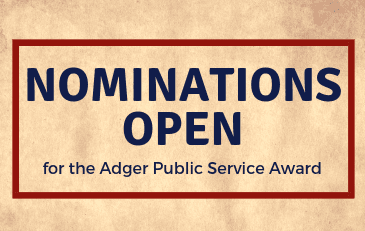 Nominations Open for Adger Public Service Award