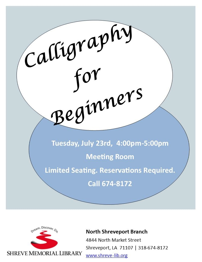 Calligraphy for Beginners Flyer jpg