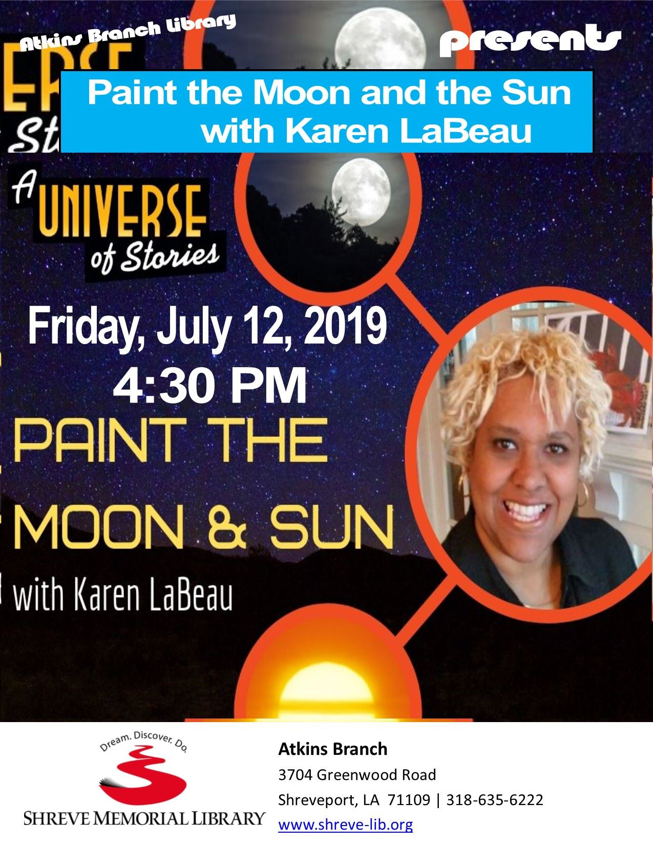 Flyer Atkins Paint the Moon and the Sun SRP 2019