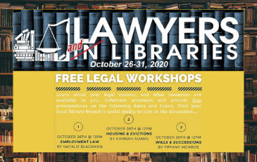 SML to Participate in Virtual Lawyers AND Libraries Event Oct. 26 - 31