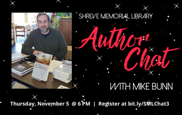 SML Welcomes Historian Mike Bunn to Virtual Author Chat Nov. 5