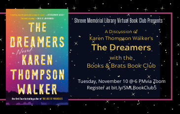 "SML Virtual Book Club Discusses ""The Dreamers"" November 10"