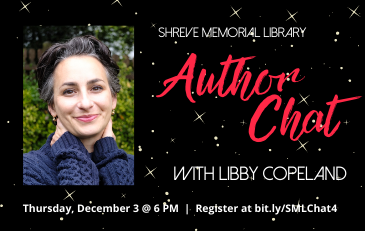 SML Author Chats Continue Dec. 3 with Libby Copeland