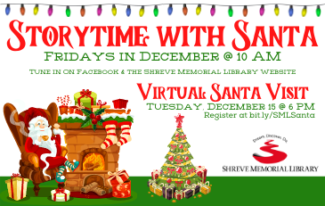 Santa Visits Shreve Memorial Library via the Internet