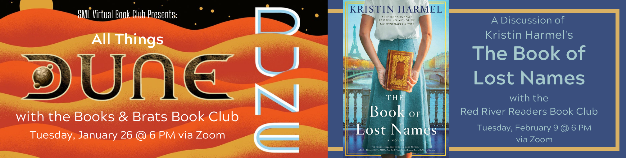 SML Virtual Book Club Discusses All Things Dune & The Book of Lost Names