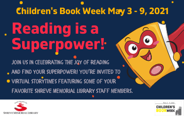 Shreve Memorial Library celebrates Children's Book Week Spring 2021