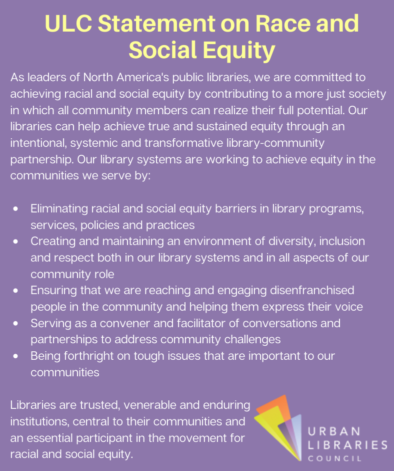 ULC Statement on Race and Social Equity Opens in new window
