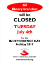 Library Closure - July 4