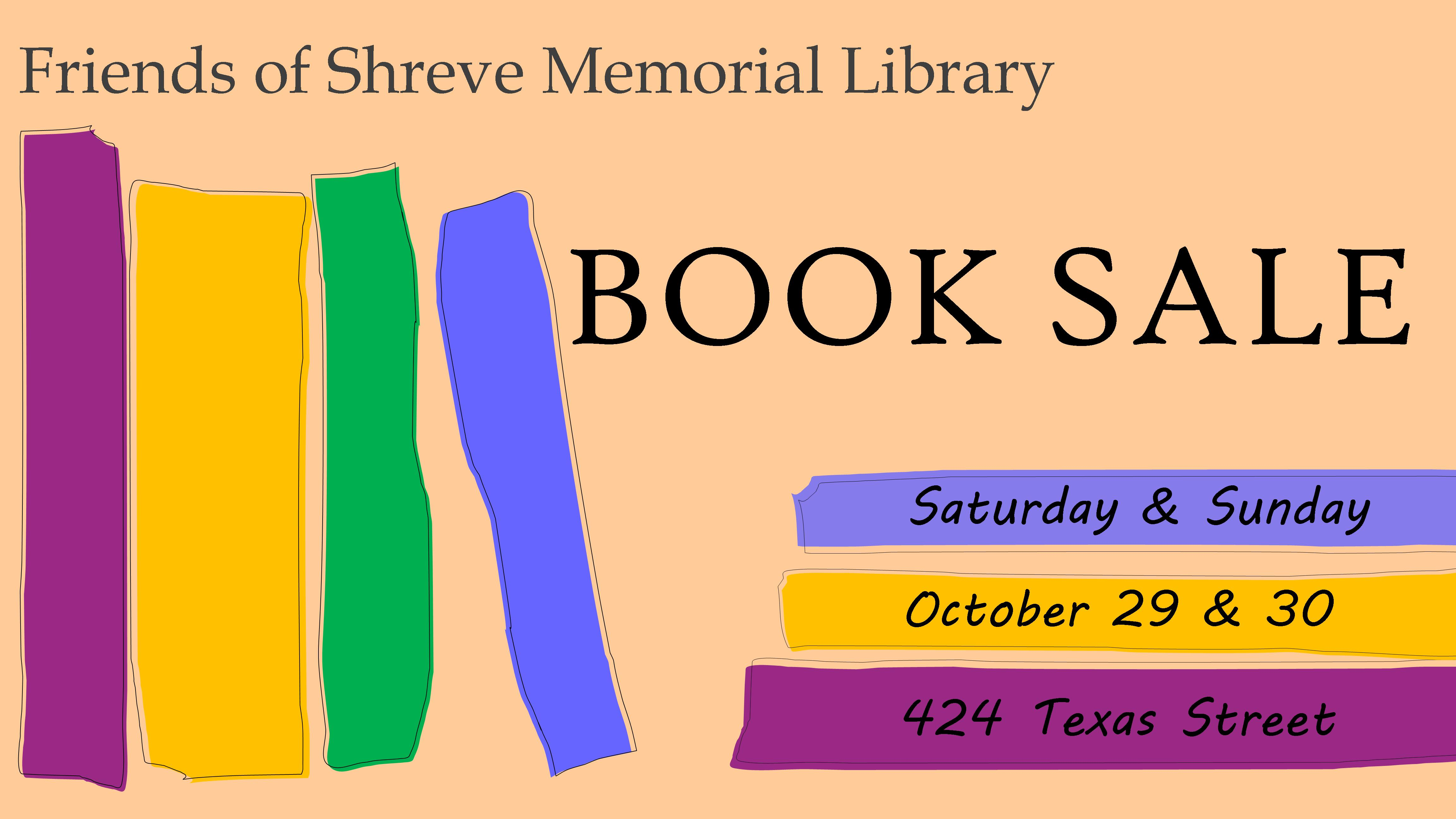 Shreve Memorial Library Fall Book Sale @ Shreve Memorial Library - Main Branch